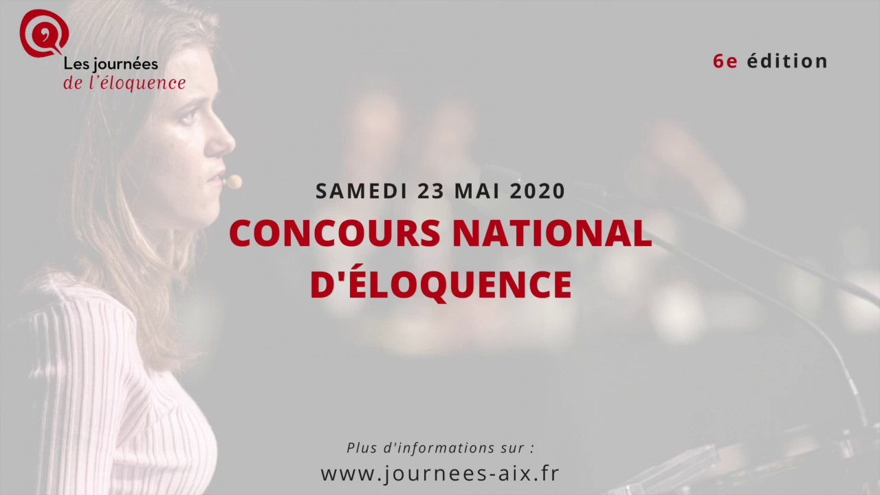 Concours national d'éloquence 2020